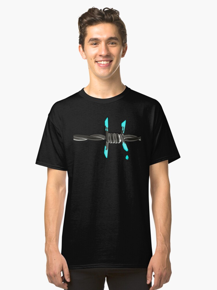 Single Drip Wire Classic T-Shirt Front