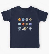 Camiseta para niños Planetas del sistema solar