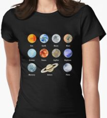 Planets of The Solar System Women's Fitted T-Shirt