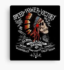 Indian Chief Skull for Motorcycle Bikers Canvas Print