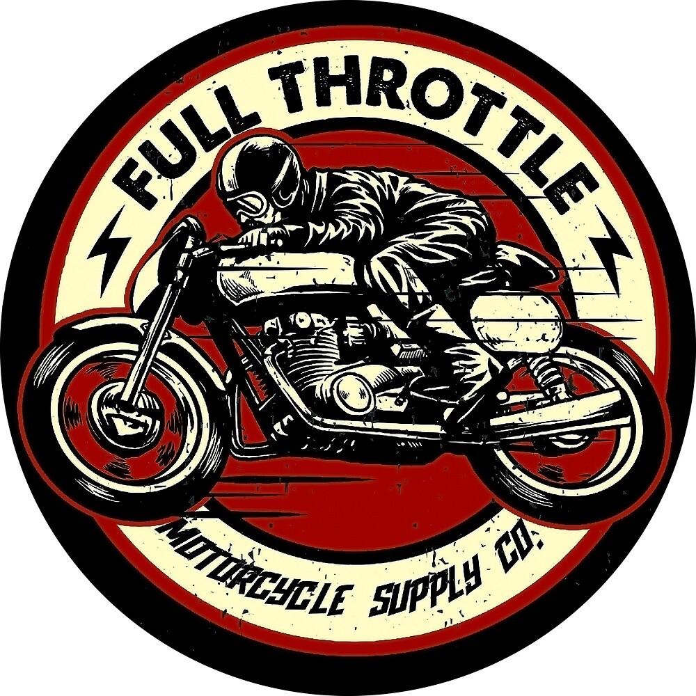 Full Throttle Motorcycle Rider by AmorOmniaVincit