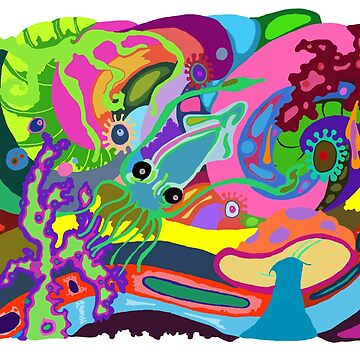 Trippy Squid by KaitlinDonovan