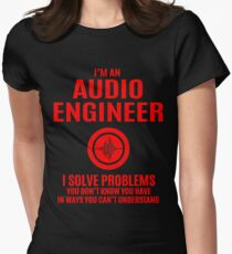 Audio Engineer Solve Problems Womens Fitted T-Shirt