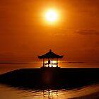 Bali Orange Sunset Sky Asia by Eduard Todikromo