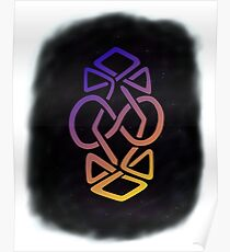Infinity Within Reflection (with starry background) Poster