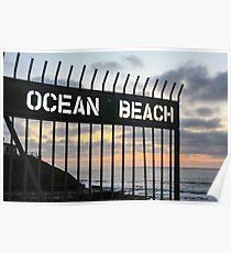 Ocean Beach San Diego Poster