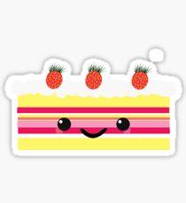 Kawaii Strawberry Shortcake Sticker