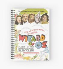 Wizard of Oz Movie Poster Spiral Notebook