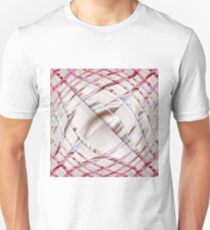 Abstract pink dynamic pattern Unisex T-Shirt