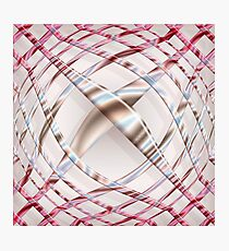 Abstract pink dynamic pattern Photographic Print