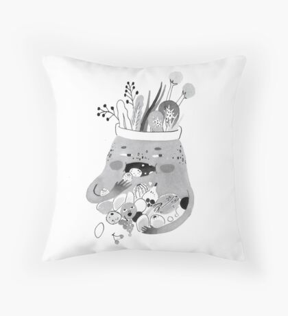 Hungryyy Throw Pillow