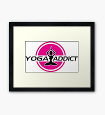 Yoga addict Framed Print