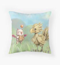 Chocobo & Moogle Throw Pillow