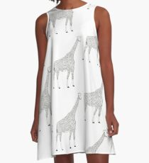 Hash giraffe A-Line Dress