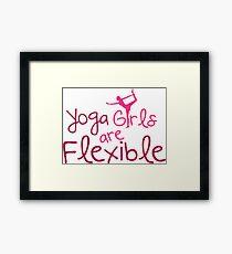 Yoga girls are flexible Framed Print