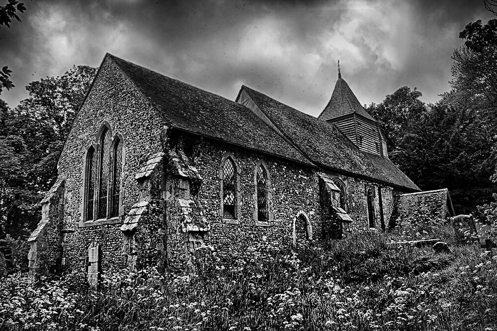 Folkington Church From The East by Dave Godden