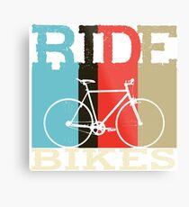 Ride Bikes Metal Print