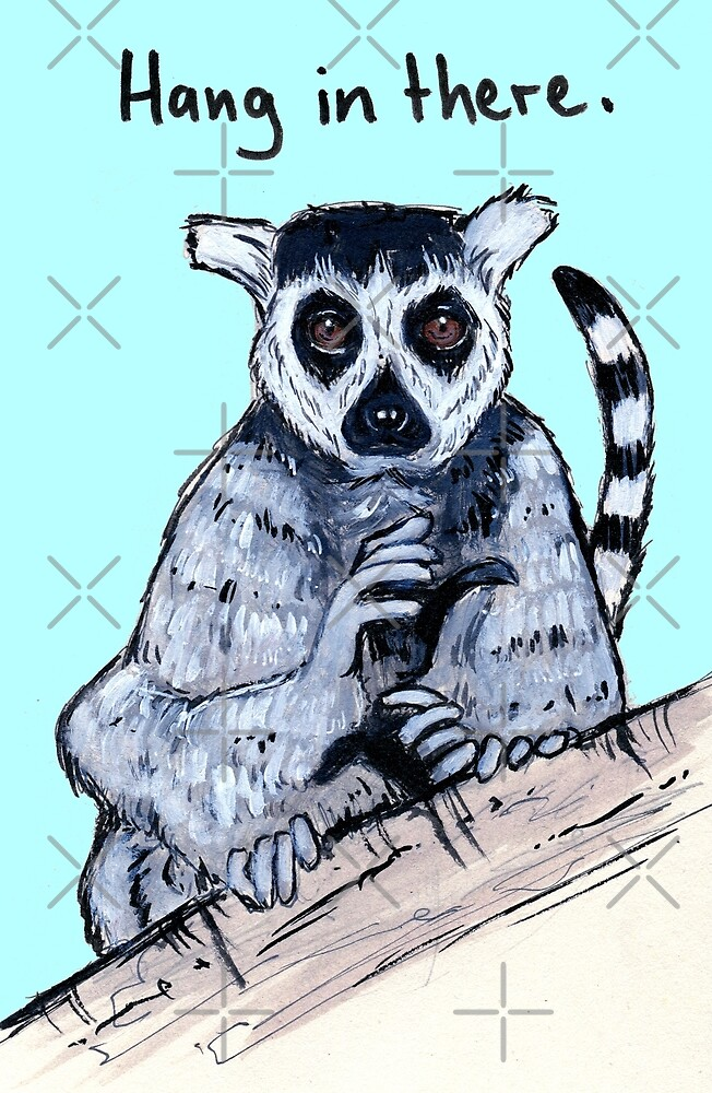 Hang In There Lemur Buddy by Lyle O'Mara
