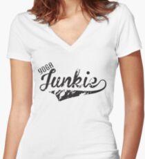 Yoga Junkie Women's Fitted V-Neck T-Shirt