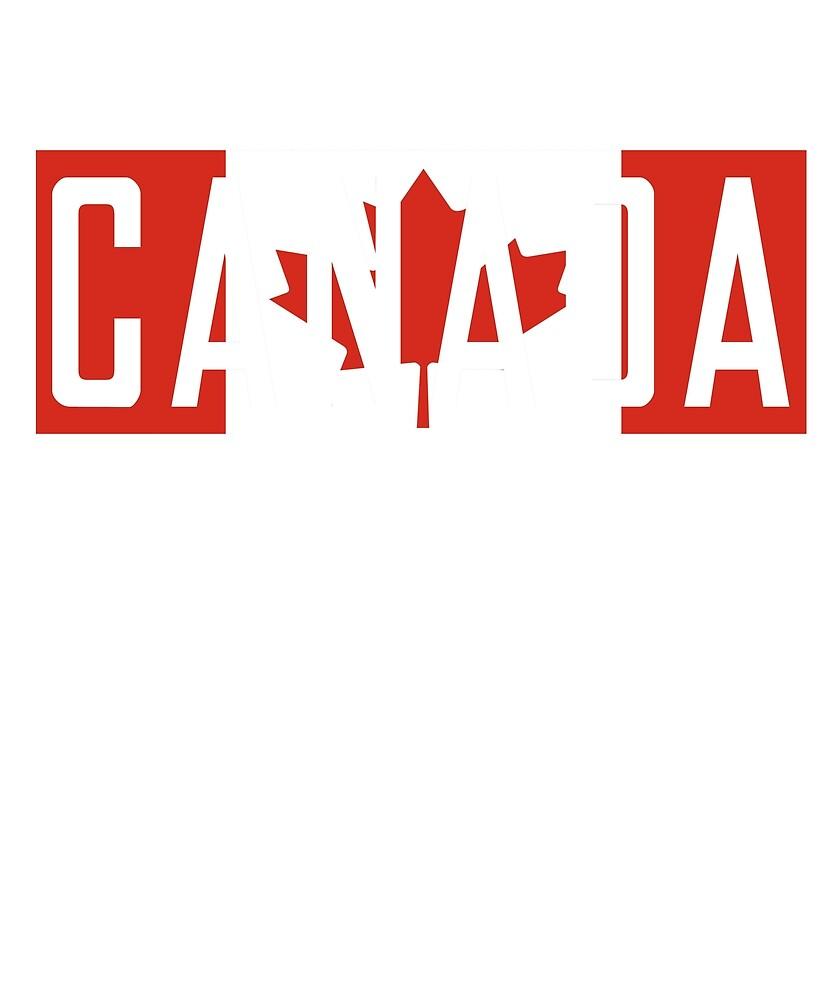 Canada Flag National Pride  by TrevelyanPrints
