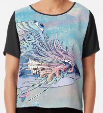Journeying Spirit (Shark) Chiffon Top