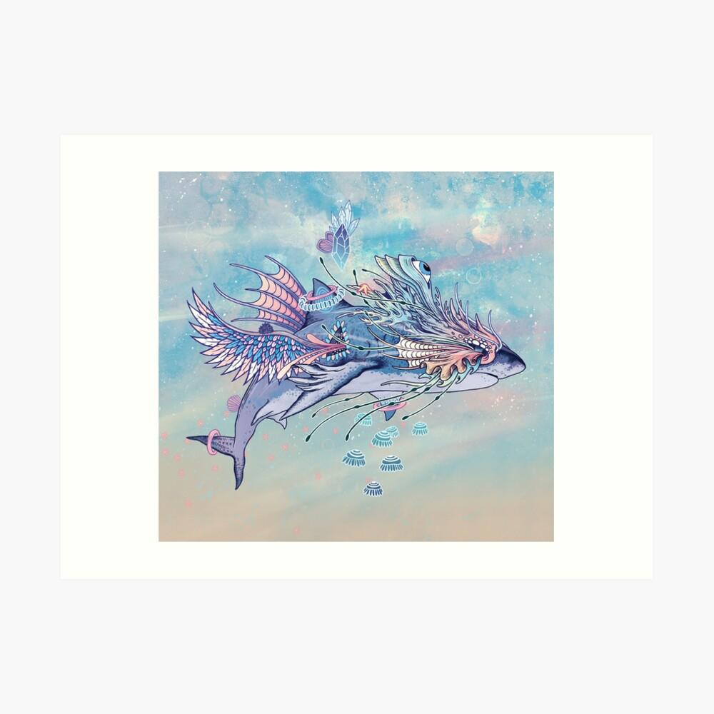 Journeying Spirit (Shark) Art Print