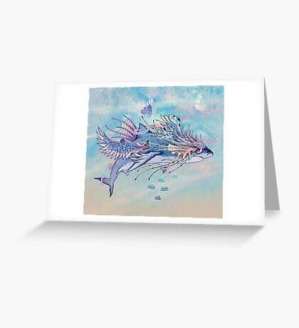 Journeying Spirit (Shark) Greeting Card