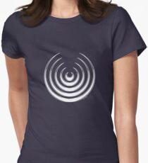 Mandala 8 Simply White Womens Fitted T-Shirt