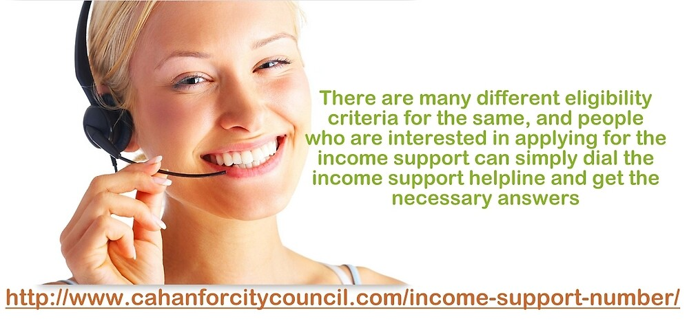 Income Support Number-Clarify Your Doubts Regarding Income Support Easily by Seannelsons