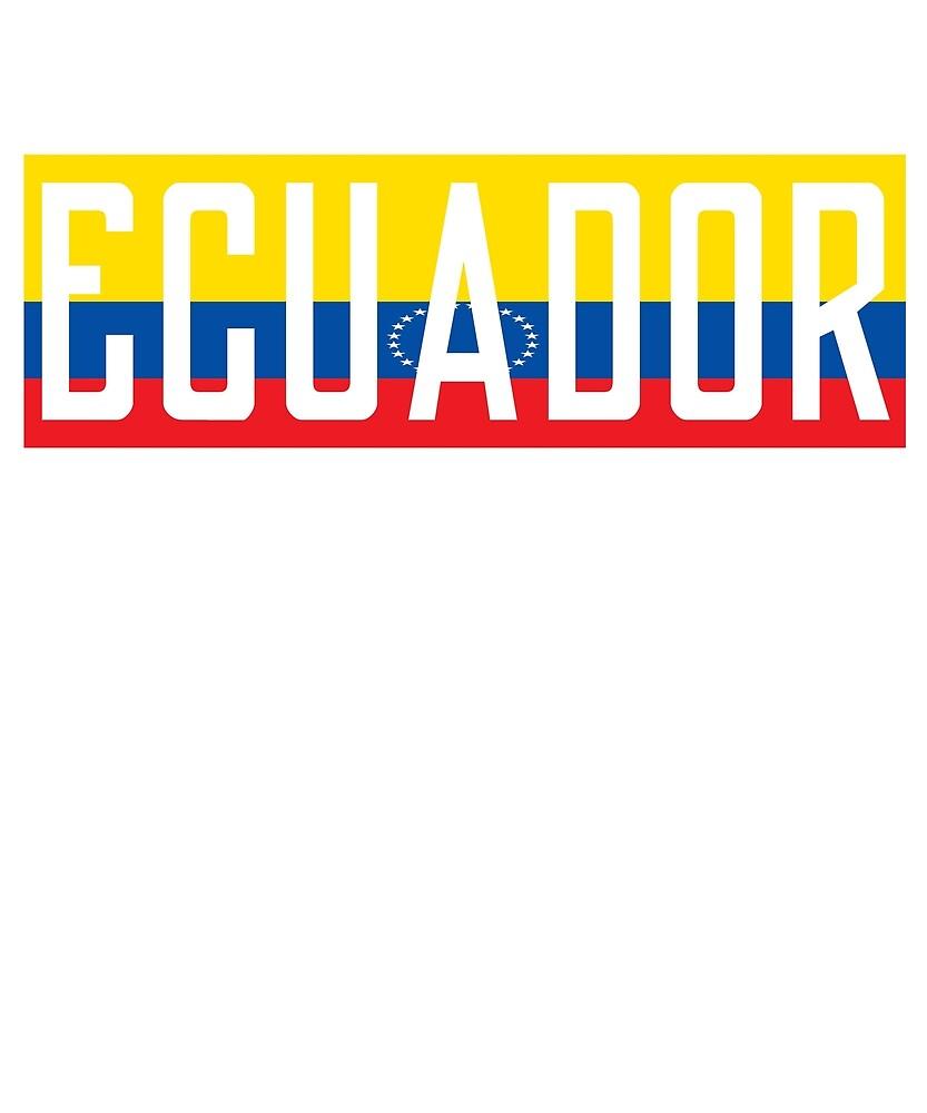 Ecuador Flag National Pride by TrevelyanPrints
