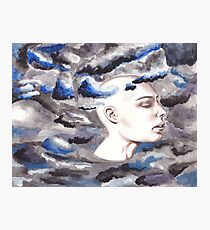 head in the storm clouds Photographic Print