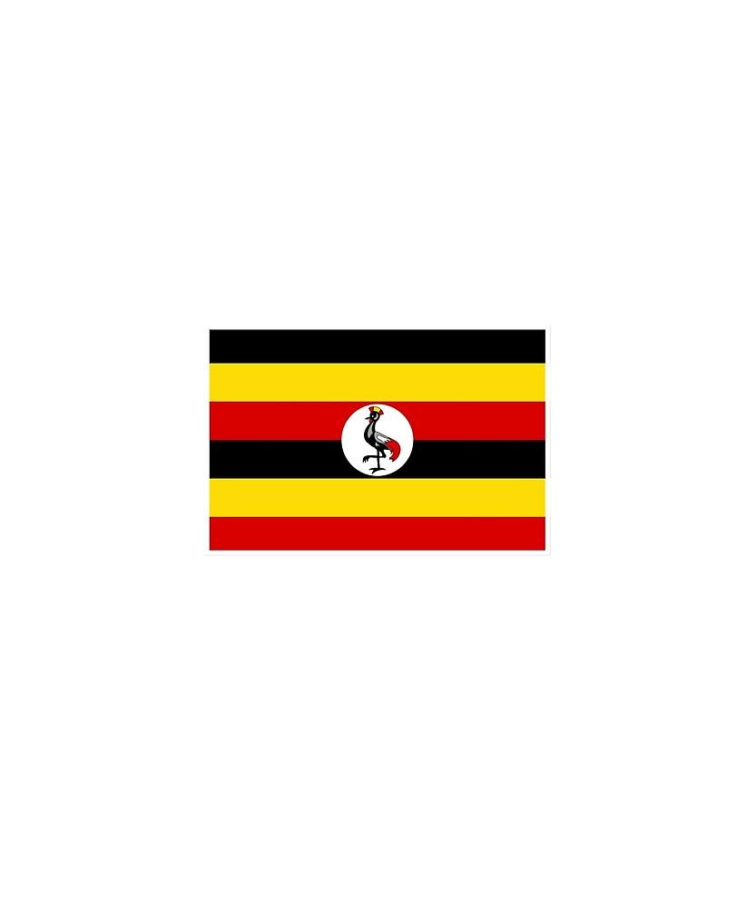 Uganda Flag National Pride by TrevelyanPrints