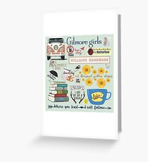 Gilmore Girls Collage, mint green Greeting Card
