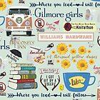 Gilmore Girls Collage, mint green by birchandbark