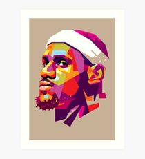 Lebron James Kunstdruck