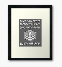 Don't Smack Talk Me - Gamer Gag Gift Framed Print