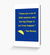 Ted Mosby Greeting Card