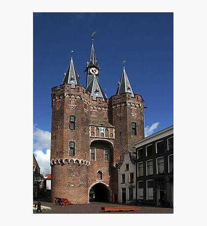 The impressive city gate Sassenpoort Photographic Print