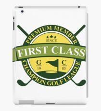 First Class Golf Sticker iPad Case/Skin
