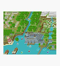 16 Bit Pixel Land Photographic Print