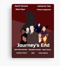 Journey's End retro print Canvas Print