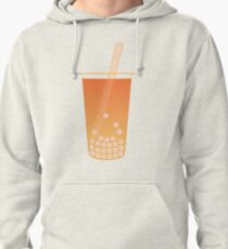 Tea Time - Orange Pullover Hoodie