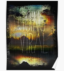 Going Viral Amber Sky Poster