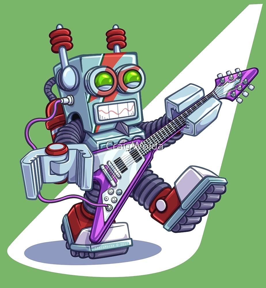 Rock-n-Roll-Bot 9000, Robot by CraigWoida