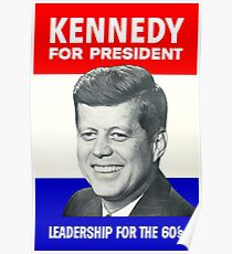 KENNEDY FOR PRESIDENT: Vintage Campaign Advertising Print  Poster