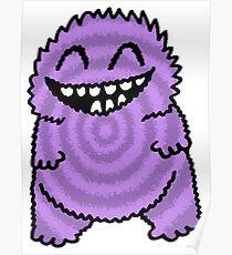 Purple Fuzz Monster Poster