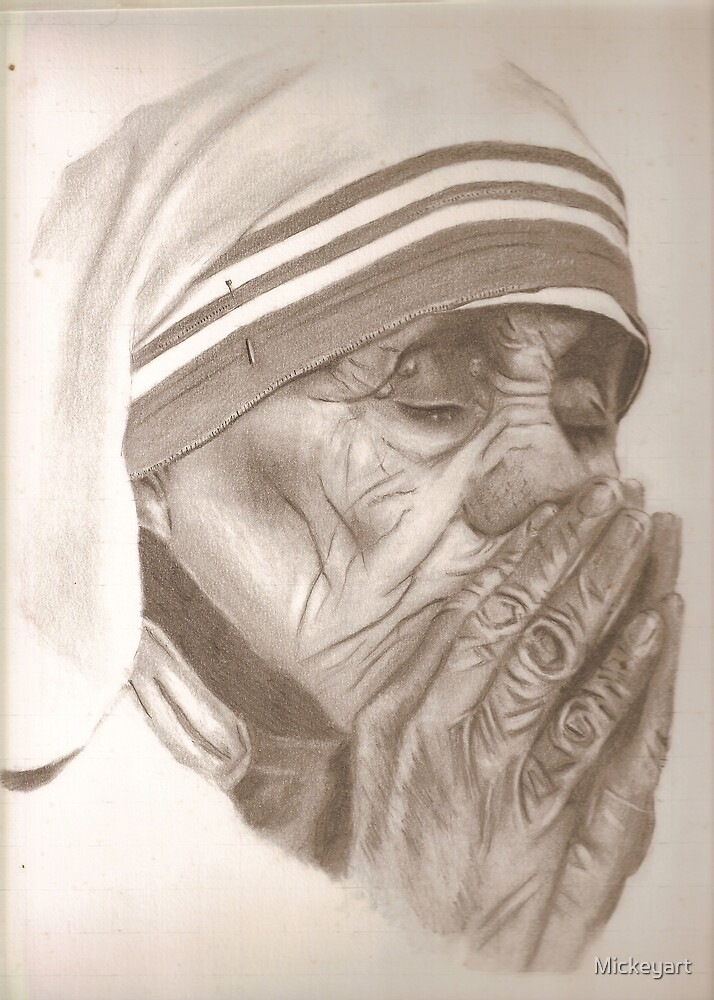 MOTHER THERESA by Mickeyart