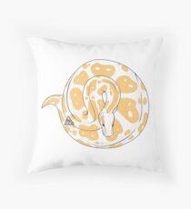 Ball Python (Albino) Throw Pillow