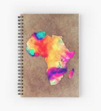 Africa map Spiral Notebook