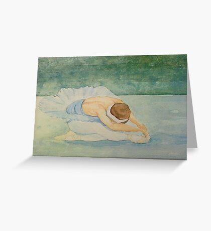 Swan Lake ballet dancer Greeting Card